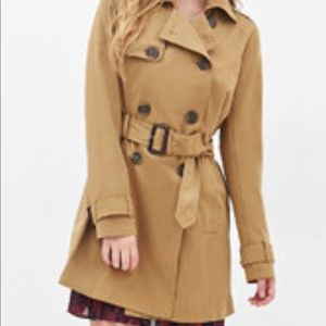 Forever 21 caramel color trench coat size Small
